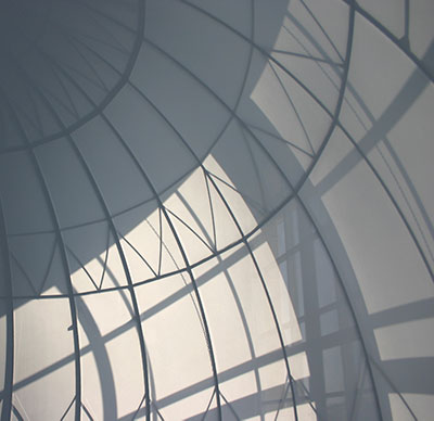 Photo of powder coated dome