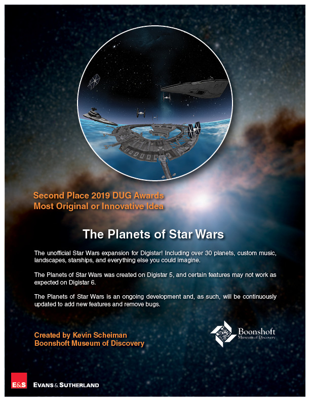 "Cloud Content - ""The Planets of Star Wars"" - Boonshoft Museum of Discovery"
