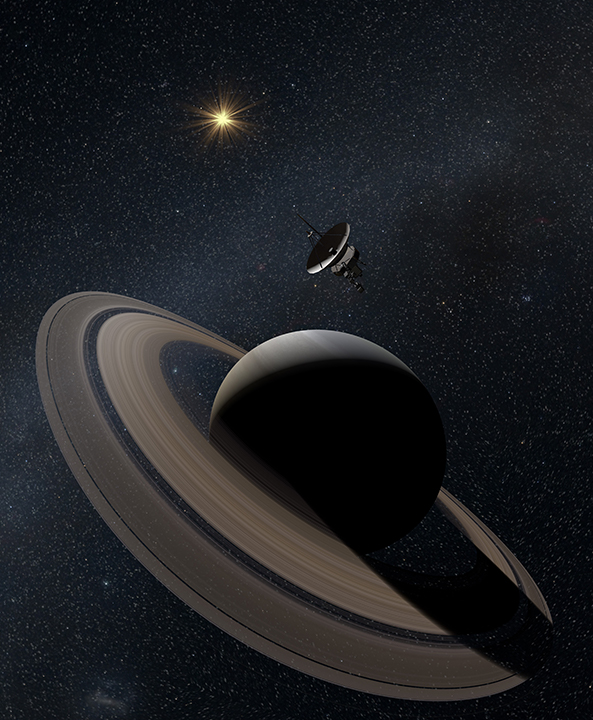 Physics based rendering model of Saturn