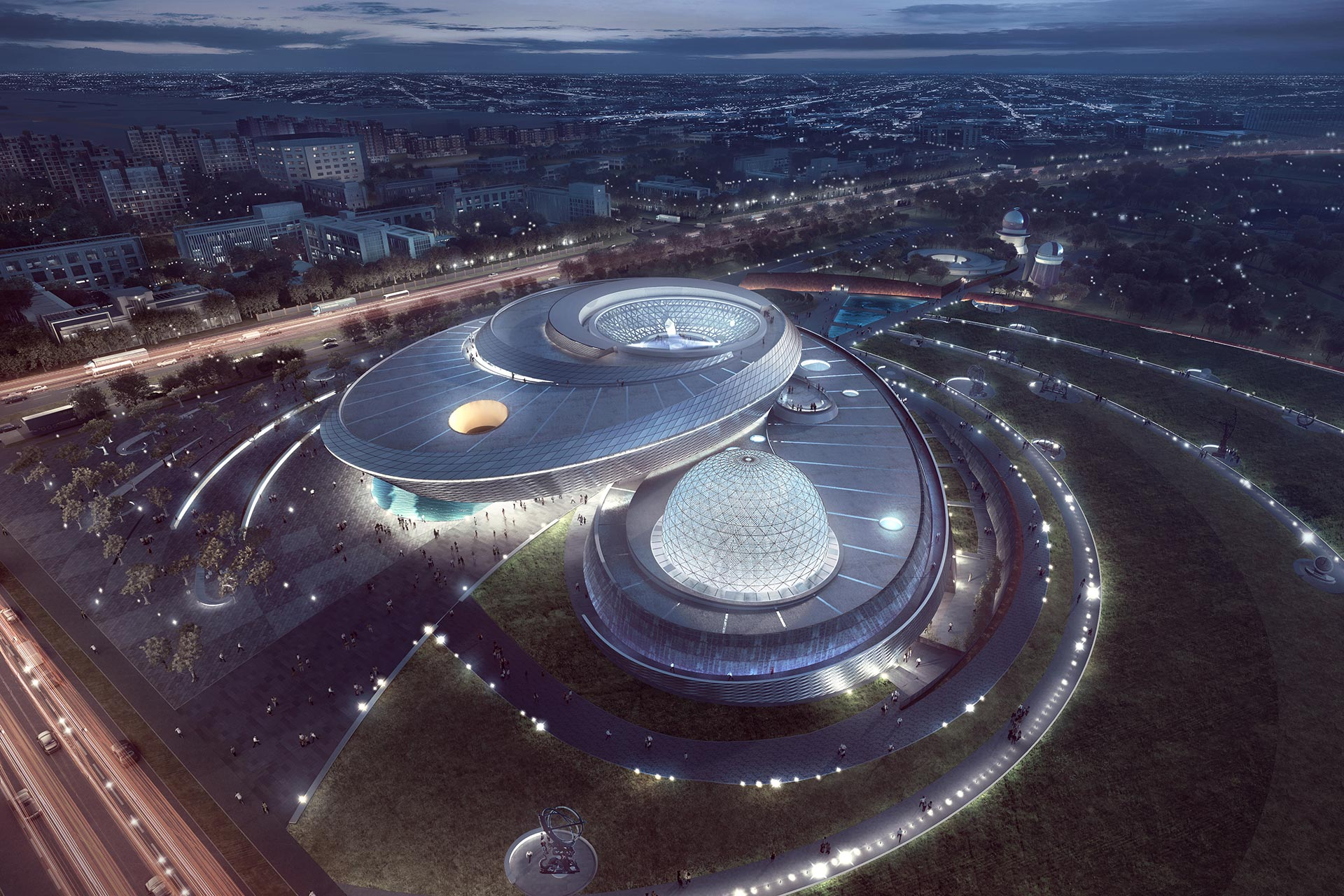 Shanghai Astronomy Museum, featuring Digistar 7 and Spitz NanoSeam dome as centerpiece